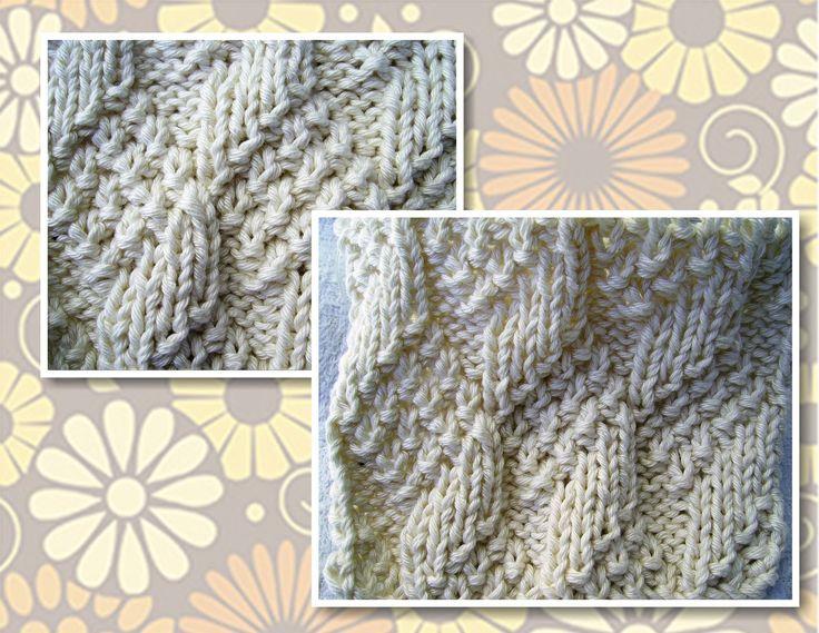 Oi!     Hoje o ponto de tricô é beeemm simples, na verdade é só meia e tricô feitos de tal forma que criam uma textura interessante     Qua...
