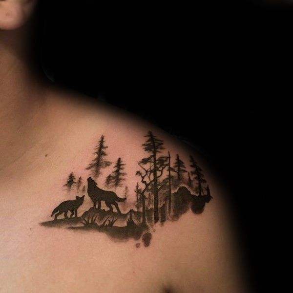 coolTop Tattoo Trends - 100 Forest Tattoo Designs For Men - Masculine Tree Ink Ideas... Check more at http://tattooviral.com/tattoo-designs/tattoo-trends-100-forest-tattoo-designs-for-men-masculine-tree-ink-ideas/