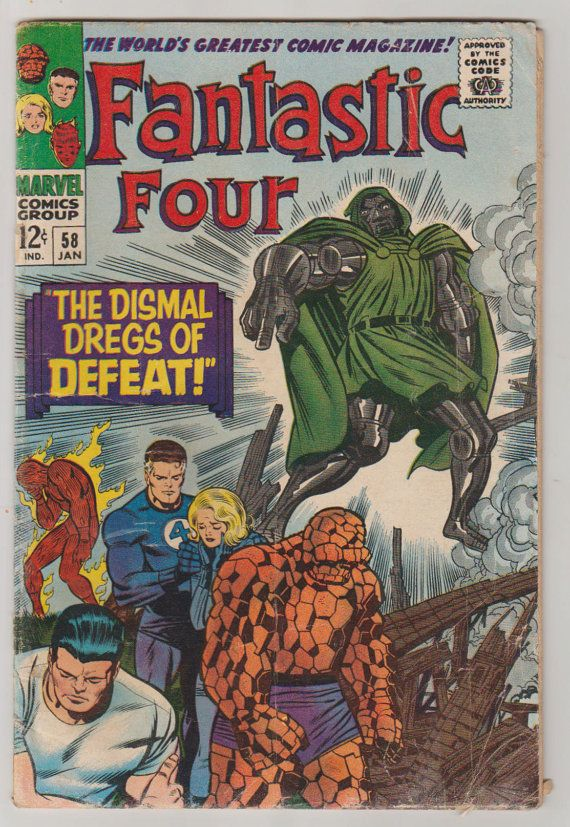 Fantastic Four Vol 1 58 Silver Age Comic by RubbersuitStudios #fantasticfour #stanlee #jackkirby #comicbooks #etsy