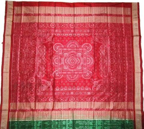 Sambalpuri Silk Saree in Green color with Blouse Piece: Amazon.in: Clothing & Accessories
