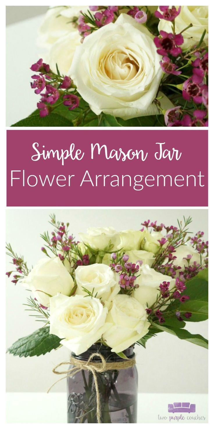 1000 ideas about mason jar arrangements on pinterest mason jar flowers mason jar flower. Black Bedroom Furniture Sets. Home Design Ideas