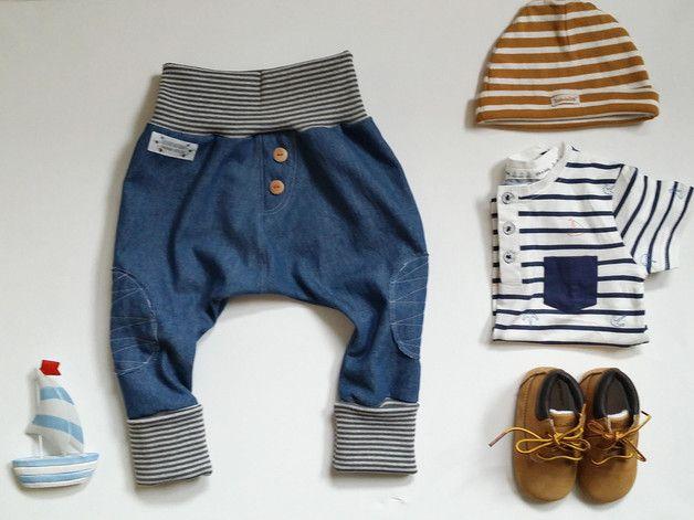 Hosen - baby jeans pumphose #benim_denim - ein Designerstück von childrenofhoney bei DaWanda