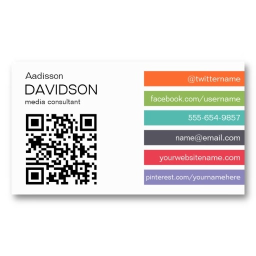 15 best accounting business cards templates images on pinterest bright bar qr code social media business card colourmoves Image collections