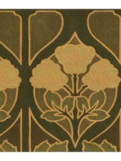 This vintage inspired paper is perfect for a nouveaux art deco space.  AmericanBlinds.com #wallpaper