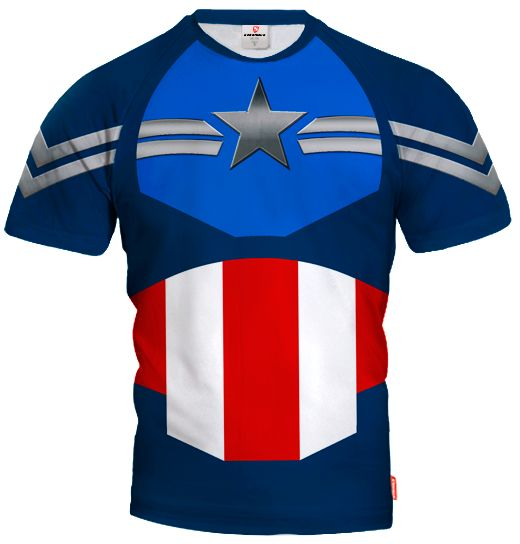 CAPTAIN AMERICA Goalkeeper short sleeve Jersey With Custom Name And Number