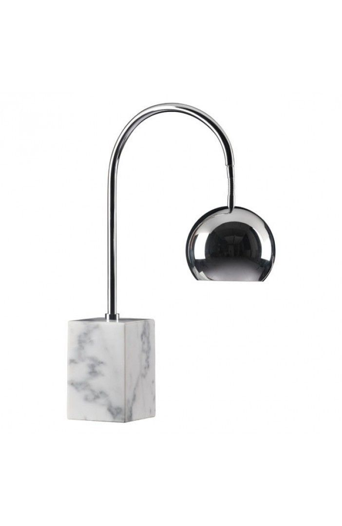 Desk Lamp on Marble Base with Metal Shade in Chrome - ON BACKORDER UNTIL MAY 2016 #homedecor #lightfixtures #contemporary