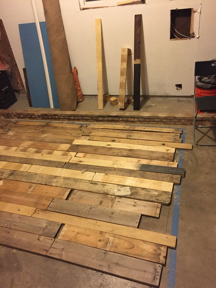 Diy project pallet wall