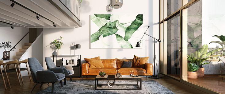 escala apartment development living room luxury