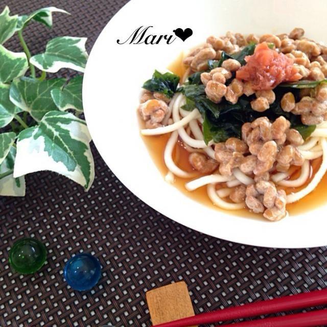 これからの季節にピッタリ さっぱり食べられる栄養満点のうどんです✨ - 95件のもぐもぐ - 簡単!さっぱり梅わかめ納豆うどん by marigappa