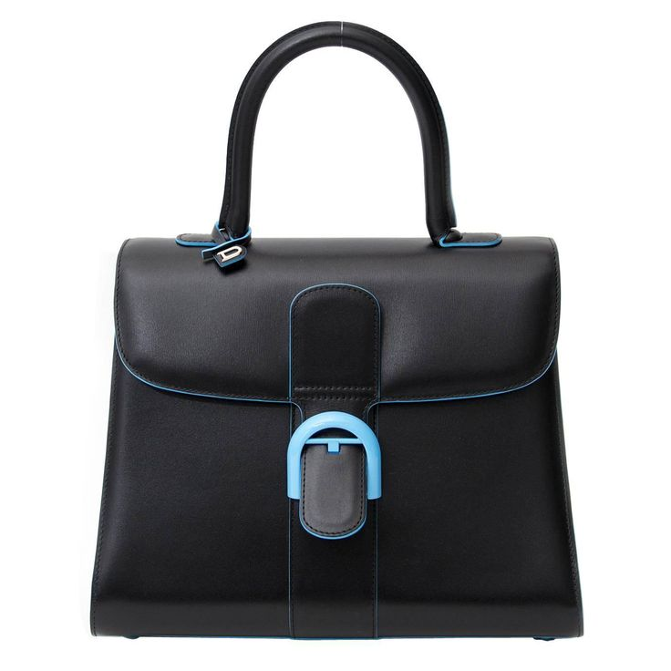 """Delvaux Brillant MM """"Dans Les Nuages""""    From a collection of rare vintage top handle bags at https://www.1stdibs.com/fashion/handbags-purses-bags/top-handle-bags/"""