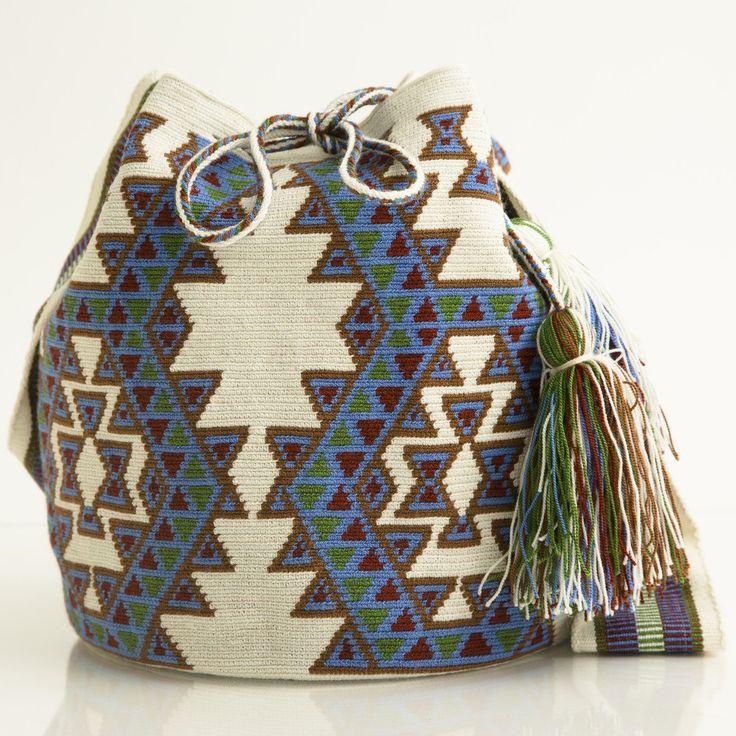 Wayuu Mochila Boho Bags | WAYUU TRIBE | Free Crochet Patterns. Amazing Handmade Crafts. Bohemian Bags starting at $118.00 www.wayuutribe.com #Crochet #crochetpatterns #crafts #freecrochetpatterns