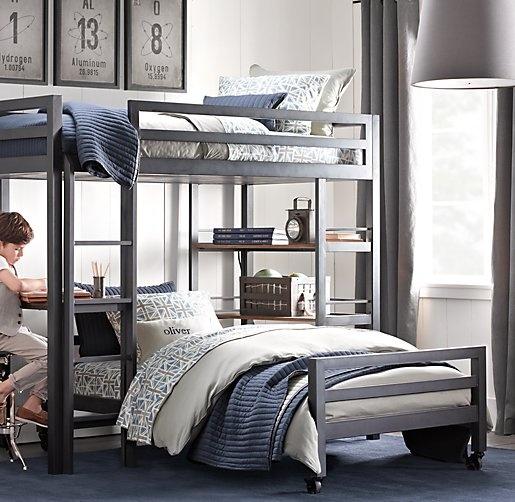 Industrial Loft Study Bunk Bed | Bunk Beds | Restoration Hardware Baby U0026  Child | Boys Room In 2018 | Pinterest | Bunk Beds Boys, Room And Bedroom