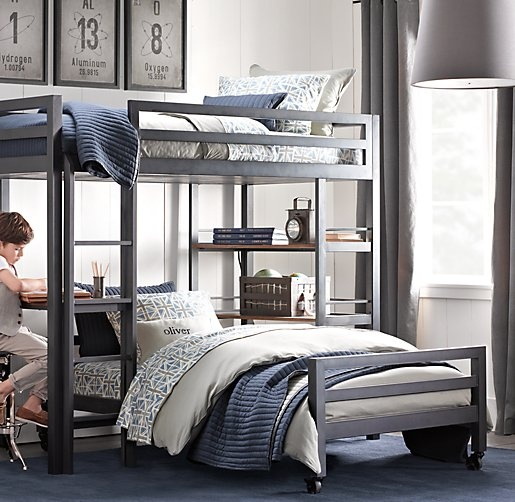 Industrial Loft Study Bunk Bed Bunk Beds Restoration