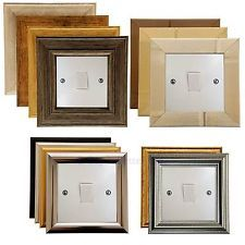 Light Switch Surround Finger Plate Art Deco Contemporary Modern Designs Choice