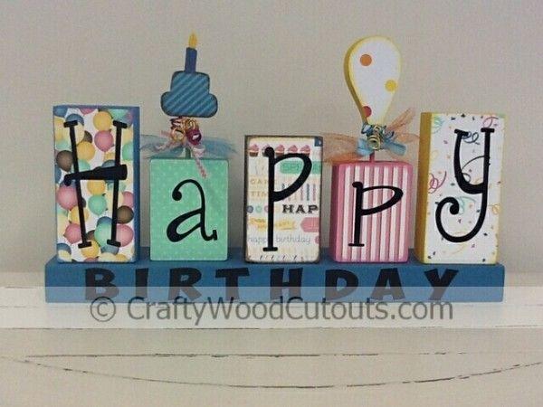 Happy Birthday   DIY Unfinished Wood Crafts