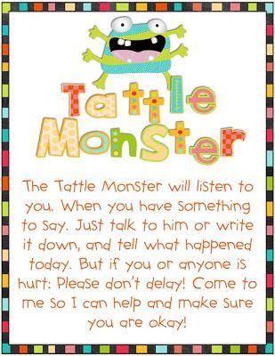 Valerie King Inspired: Tattle Monster