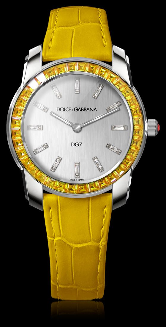 Women's Watch - White Gold with Yellow Sapphires - D&G Watches | Dolce & Gabbana Watches for Men and Women