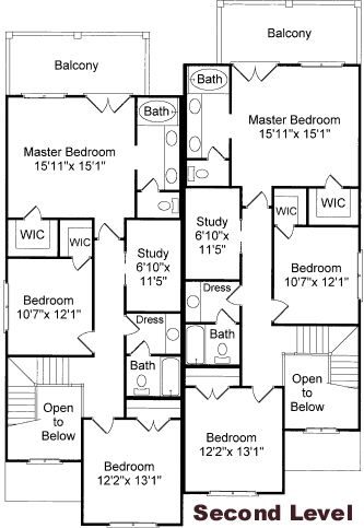 Coastal homes home plans and twin on pinterest for Twin home floor plans