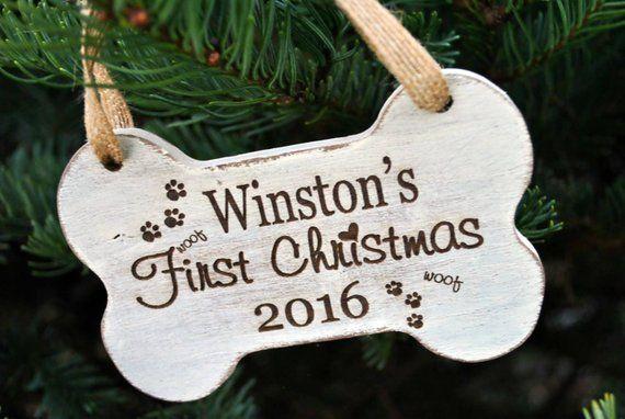 Bone Puppy Dog Stocking Decoration Animal name Tag Custom Name Gift Personalized Christmas Stocking Name Pet pets Animal Name
