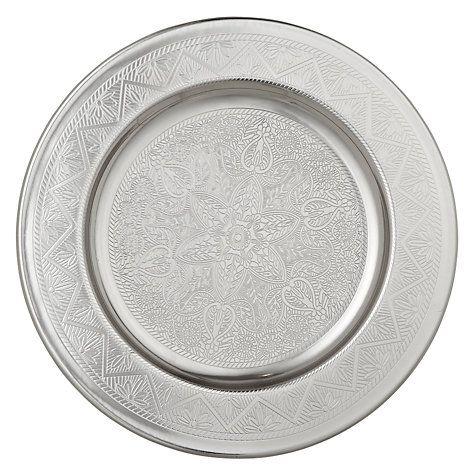 Buy John Lewis Round Metal Tray, Dia.24.5cm Online at johnlewis.com