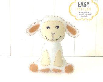 Stuffed Horse Sewing Pattern Plush Horse by LittleSoftieShoppe