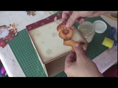 Video Aula: Porta Panetone de Navidad   Todo en GOMA EVA