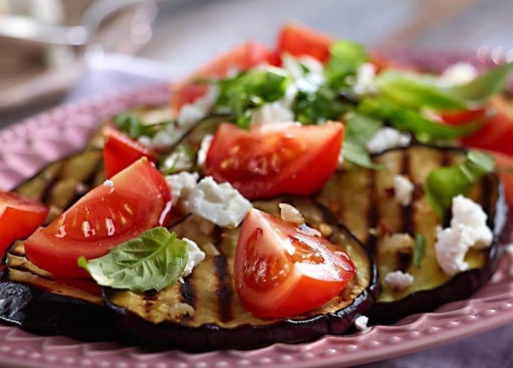 Grillowana sałatka z bakłażana i pomidorów #lidl #przepis #baklazan