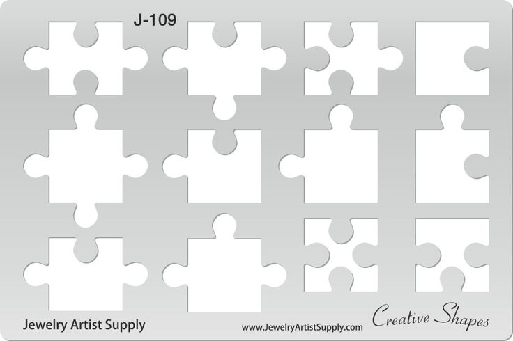 Puzzle Pieces Template http\/\/wwwjewelryartistsupply - puzzle piece template