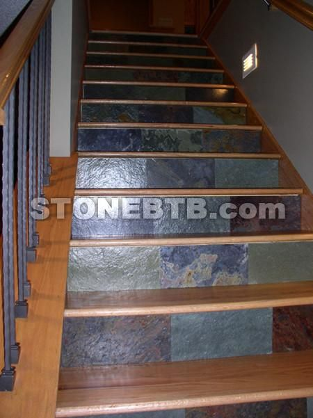 Slate Stairs Home Stuff Pinterest And