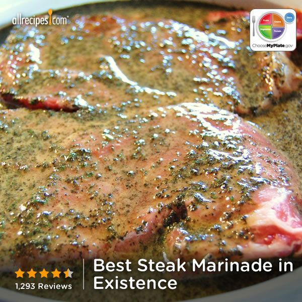"Best Steak Marinade in Existence | ""My husband did not slather his steak in ketchup after taking the ""required"" one bite without ketchup! No matter how tasty a marinade I've used in the past, he's always still used ketchup. Upon tasting his steak tonight, he declared he would not use ketchup tonight. He raved the entire meal."""