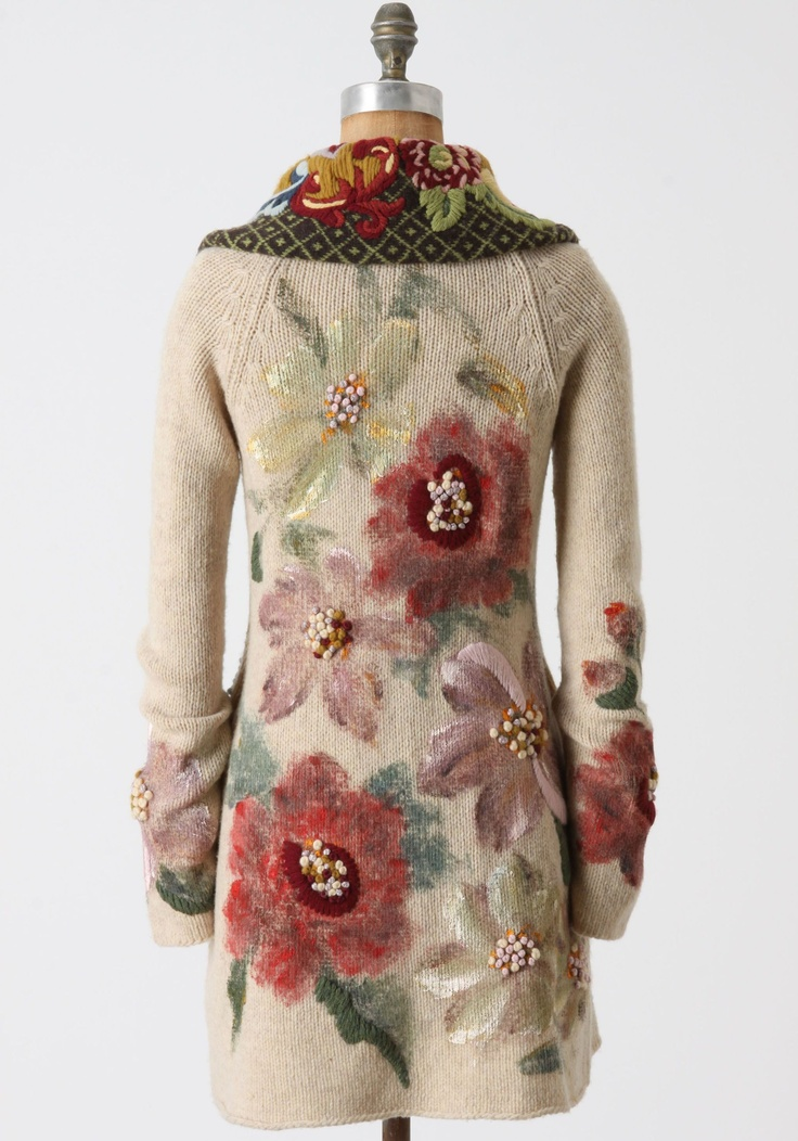 .Flowered coat - back