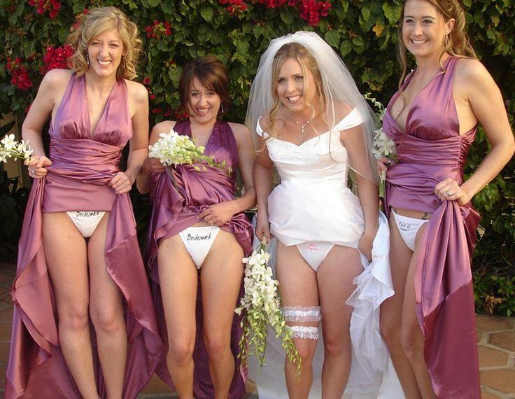 Have hit Bride and bridesmaid flashing