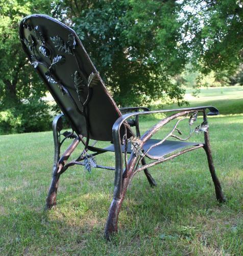 патио мебель, кованого железа стул