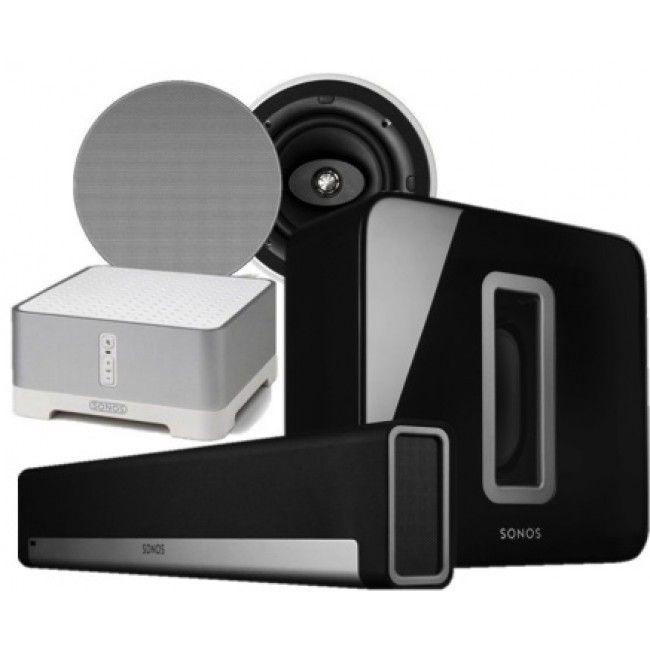 Sonos PLAYBAR + Sonos Sub + Sonos Connect Amp + KEF Ci160cr 5.1 Bundle