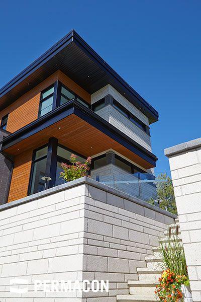 descente d 39 escalier en pierre terrasses am nagement paysager pinterest stone veneer and. Black Bedroom Furniture Sets. Home Design Ideas