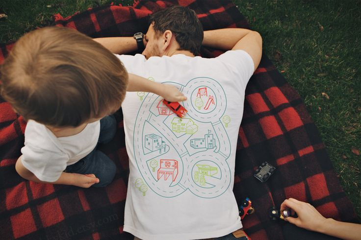 Playtime Back Massage T-Shirt. This has to be the greatest thing ever invented for a child and his father ever.