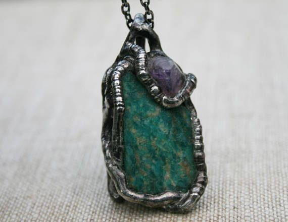 AMAZONITE necklace gemstone NECKLACE necklace for her #Gemstone #Necklace #Amazonite #OldSilver