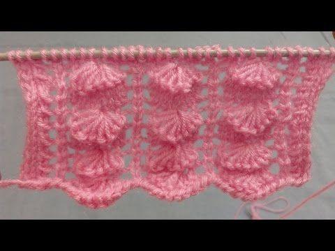 Knitting Pattern - Cross Stitch pattern | Stitch Design| हिंदी बुनाई डिजाइन - YouTube