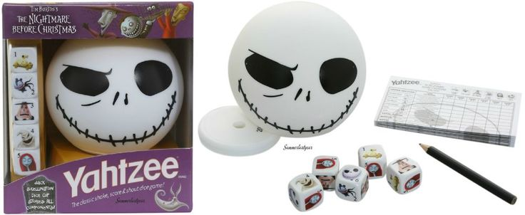 YAHTZEE GAME ~Disney~ THE NIGHTMARE BEFORE CHRISTMAS EDITION Free Shipping #Yahtzee