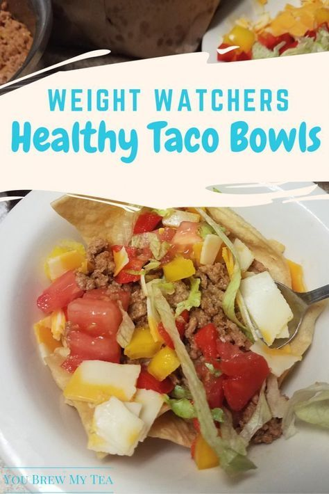 Weight Watchers Recipes: Easy Taco Bowls are a great healthy dinner!  | SmartPoints Dinner Recipe | Taco Bowl Recipe | SmartPoints Meals | WeightWatchers Meals