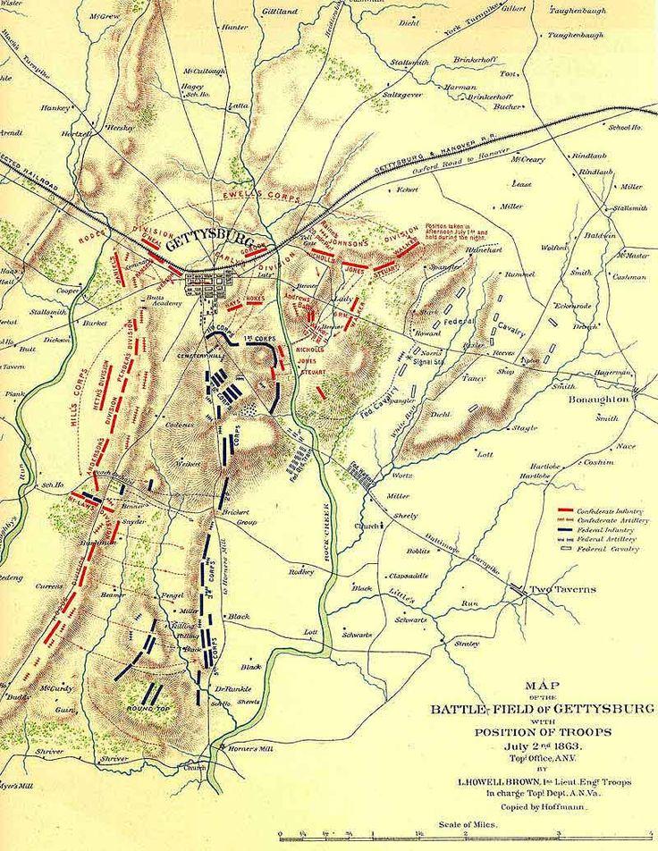 Best Gettysburg Images On Pinterest American History - Gettysburg battle us map