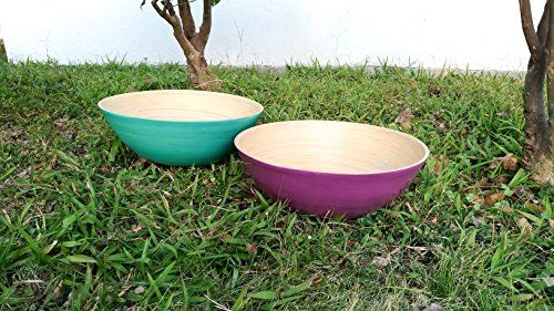 We have been working in home and garden industry for over 5 years, this is the first time we make our own product to you, we know what you need and offer to you, Ann Lee Design would be the product cannot be miss at home. Natural - All Wooden Bamboo Extra Large Serving Bowls
