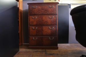 Cherry Wood 4 Drawer Lateral File Cabinet