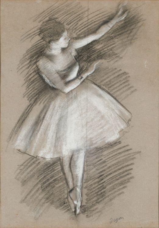 Danseuse en blanc (Estudio para dos bailarinas en escena ...
