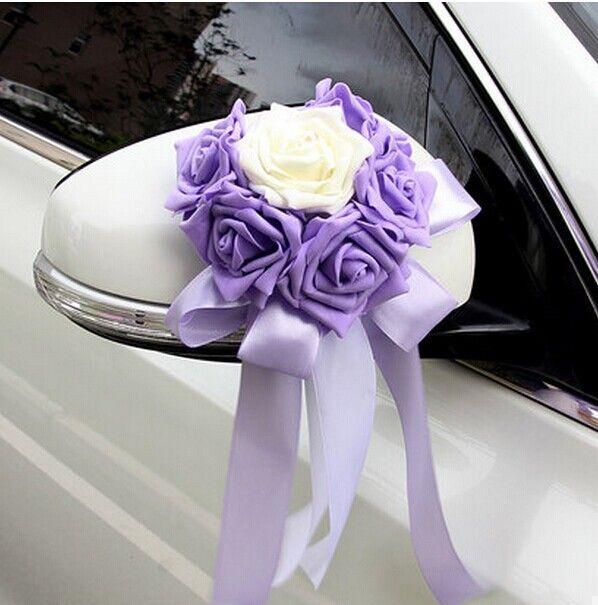 wedding car decoration with rose - Recherche Google