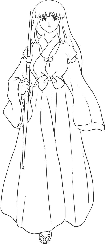 Inuyasha coloring book - Inuyasha Coloring Page Jpg 643 1483