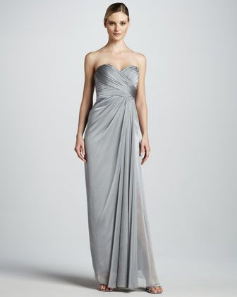Strapless Sweetheart Gown by Badgley Mischka