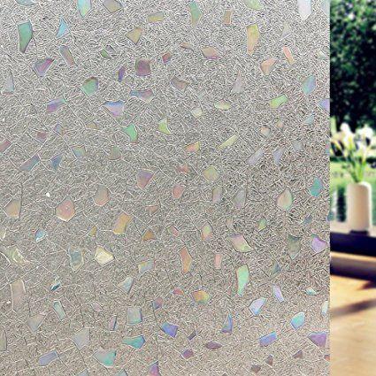 Lifetree 019 Fensterfolie Sichtschutzfolie Statisch Folie Selbstklebend 90*200cm /3D Farbig Stein