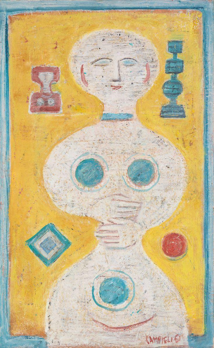 """Massimo Campigli, """"Idolo Bianco"""" 1961"""