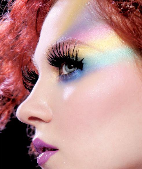 Rainbow eyes Lime Crime, Airborne Unicorn, lipstick, magic dust, green, blue, purple, pink, gradient                                                                                                                                                      More